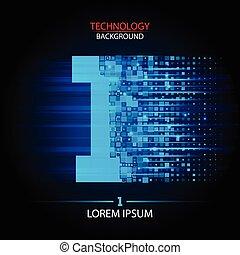 Number one logo vector technology design