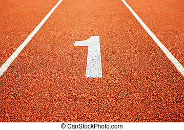 number one on running track
