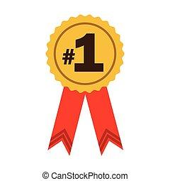number one ribbon award