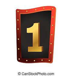 Number one show lights sign