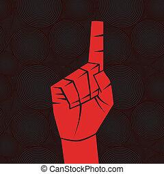 Index finger - Number one sign. Index finger.Forefinger...