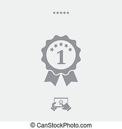 Number one symbol icon