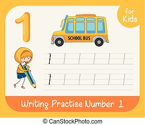 Number one tracing worksheets