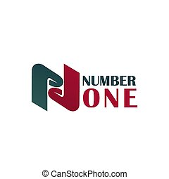 Number One vector letter N icon