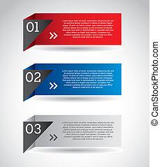 number options banner over gray background. vector