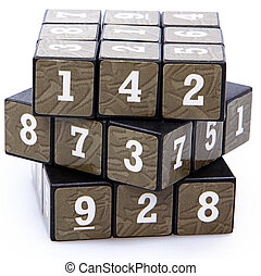 Number Puzzle Cube Unsolved
