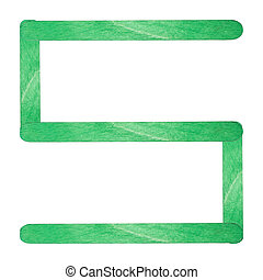 Number separated by green wood stick