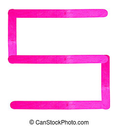 Number separated by pink wood stick