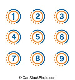 Number set button, 1-9 numbers
