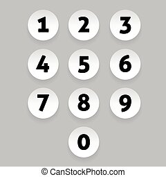 Number set circle button