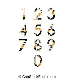 Number Set Vector Template Design Illustration