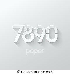number seven eight nine zero logo paper set - number seven 7...