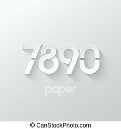 number seven eight nine zero logo paper set - number seven 7...