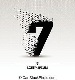 Number seven logo vector design illustration