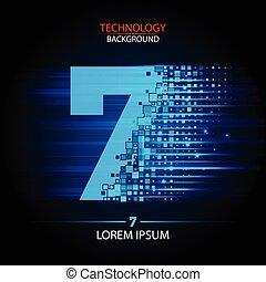 Number seven logo vector technology design