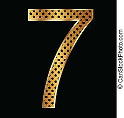 Number seven tiger style