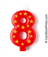 number shaped anniversary candle
