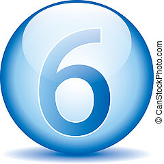 Number six button