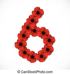 number six in poppies