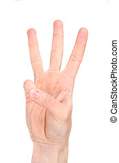 Number six in sign language