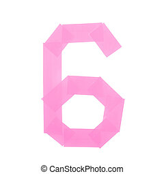Number six symbol made of insulating tape