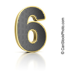 Number Six with perforated metal