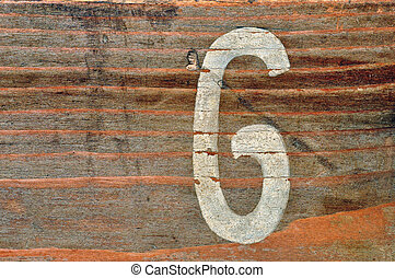 number six wood background