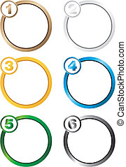 number step circle background