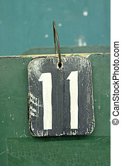 number tag, eleven - number tags plate for badminton games ...