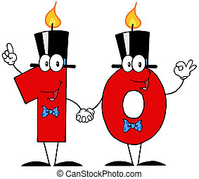 Number Ten Candles