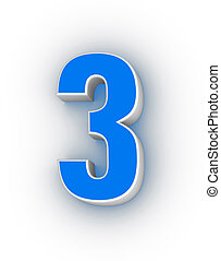 three - number three