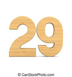 Number twenty nine on white background. Isolated 3D illustration