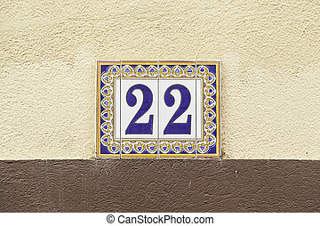 Number twenty on a wall