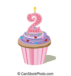 number two cupcake  - number two cupcake