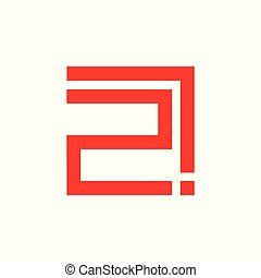 number two exclamation design symbol vector