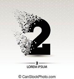 Number two logo vector design illustration