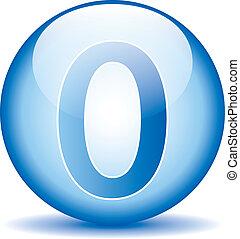 Number zero button