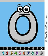 number zero cartoon character - Cartoon Illustrations of...