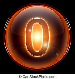 number zero icon.