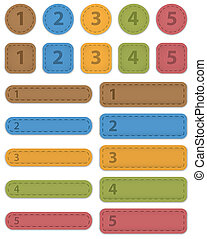 Numbered design templates