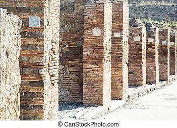 Numbered Plaques in Pompeii Columns