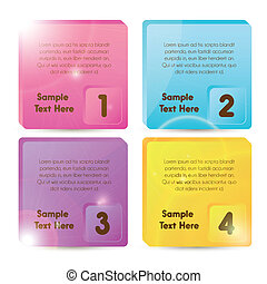 numbered squares illustration
