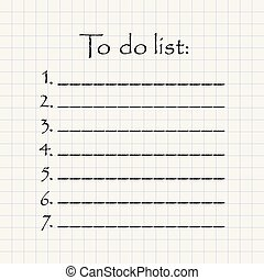 numbered to do list in mathematical square paper motivational inscription template