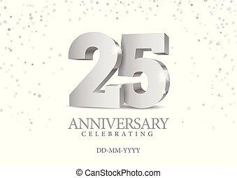 numbers., 25., 記念日, 銀, 3d