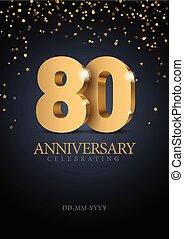 numbers., 80., 記念日, 金, 3d