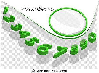 numbers abstract background