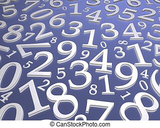 Numbers background. 3d rendered illustration