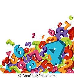 Numbers background - Abstract background with colorful ...