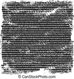 Numbers background - Numbers grunge background