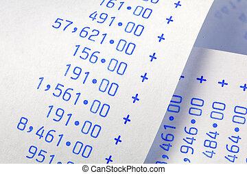 numbers., computational, costes, rayas, profits., gastos, rentas